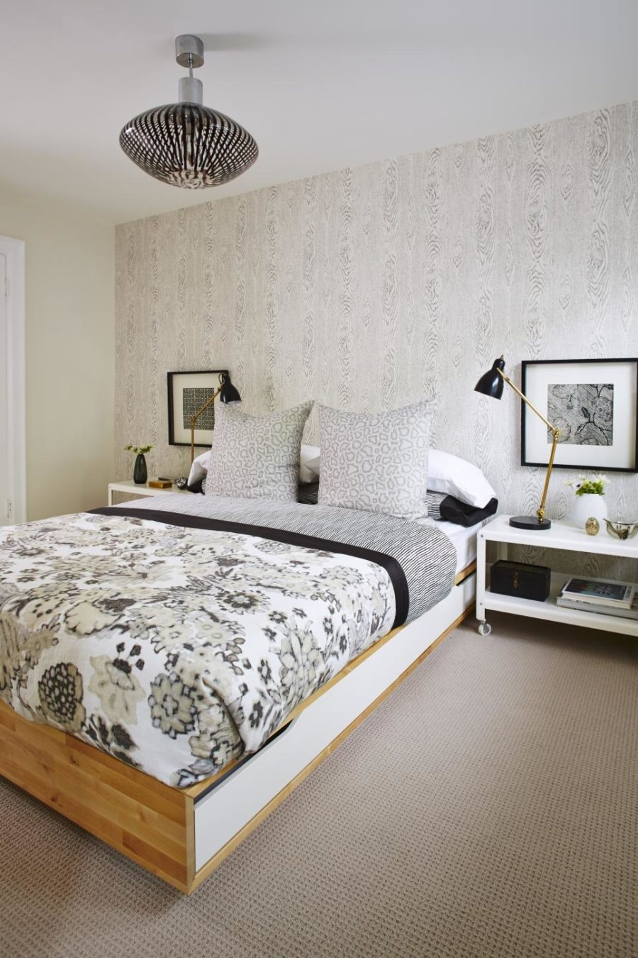 Mix of traditionalism and modernity in bedroom by Sarah Richardson