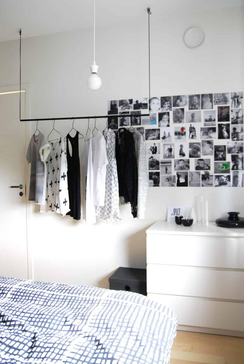 Modern ceiling clothing rack