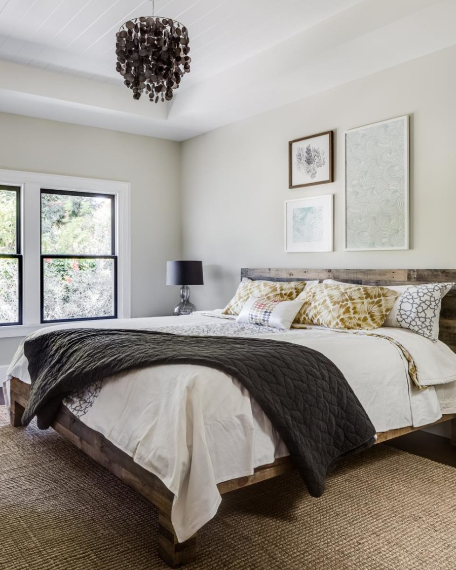 Modest but elegant bedroom design by Lindsay Chambers