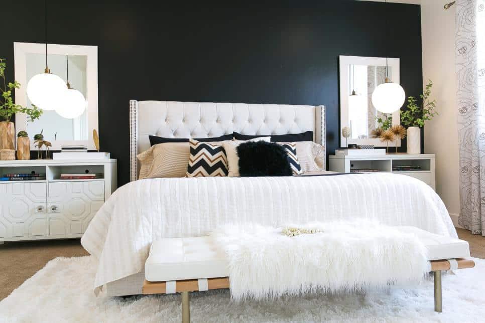 Monochromatic bedroom by Judith Balis