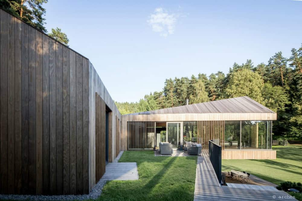 More outdoor lounge areas sit on different house levels