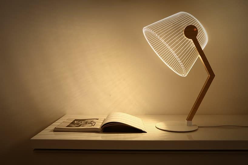 Optical Illusion LED lamp by Studio Cheha