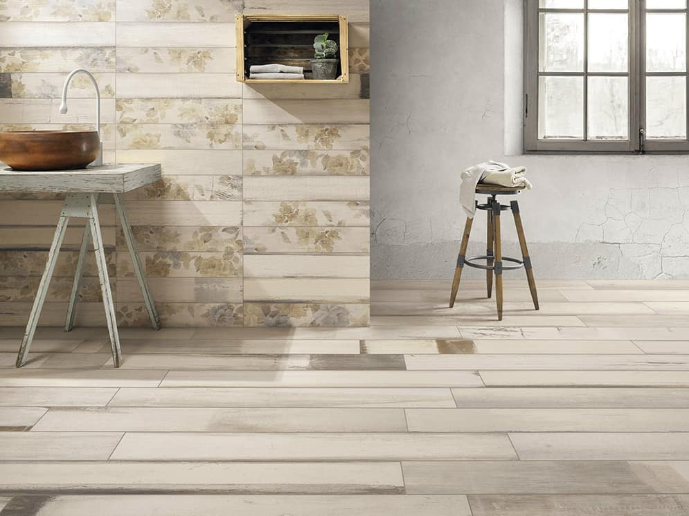Painted Wood tiles by Ceramica Fioranese