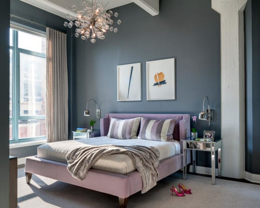 Play of color in bedroom by Amy Elbaum