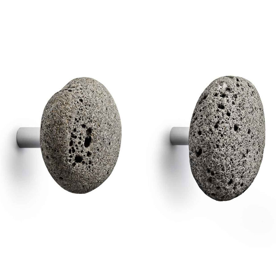 STONE Hook Modern Wall Hook in Lava Rock from Normann Copenhagen 900x900 How To Decorate With Lava Stone