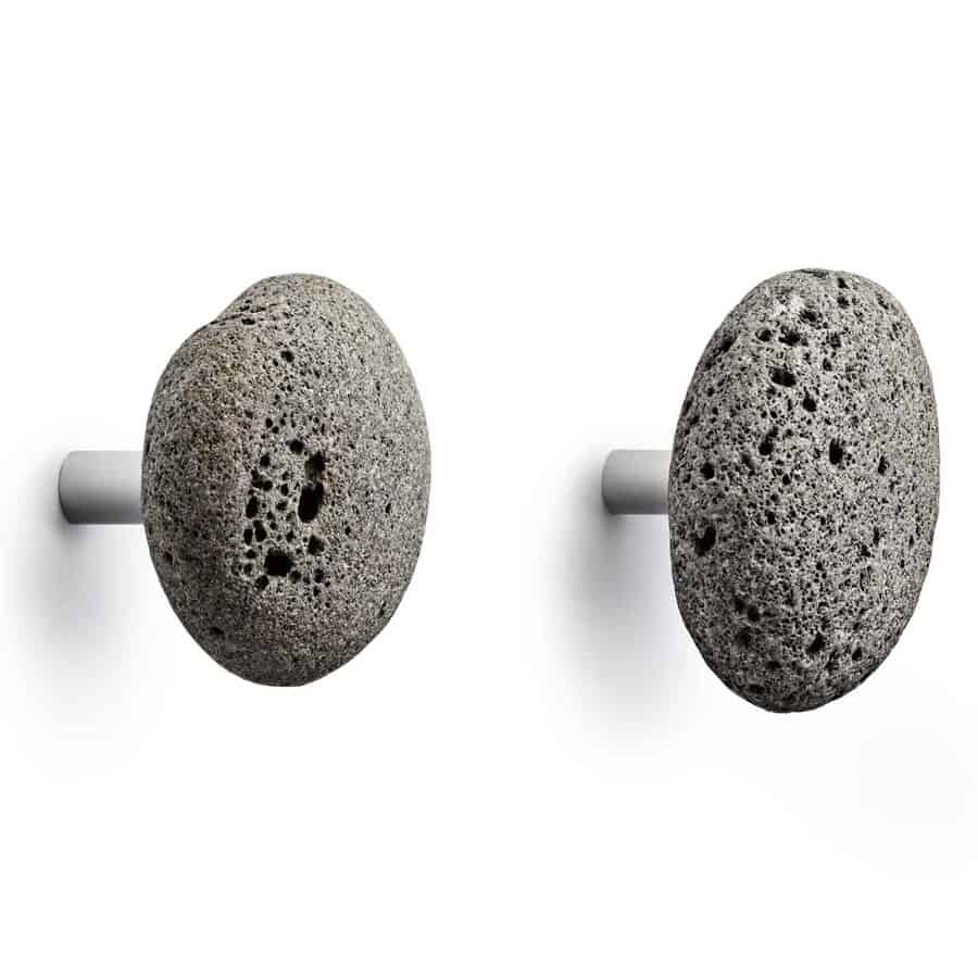 STONE Hook Modern Wall Hook in Lava Rock from Normann Copenhagen