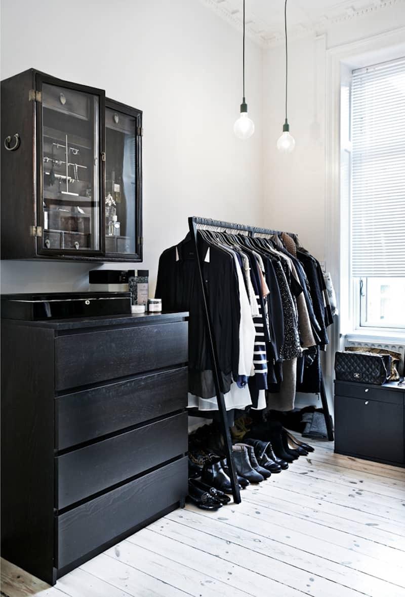 Scandinavian style closet