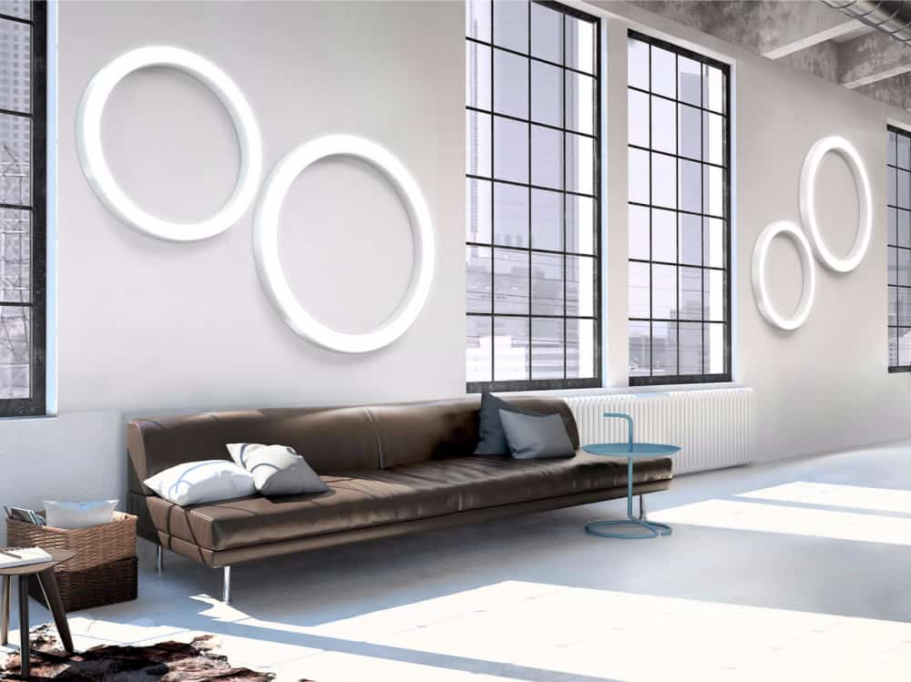 Silver Ring wall lamps by Panzeri