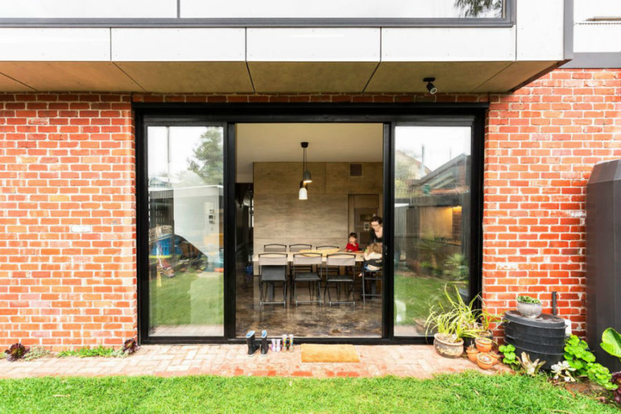 Sliding glass doors is any contemporary home's staple