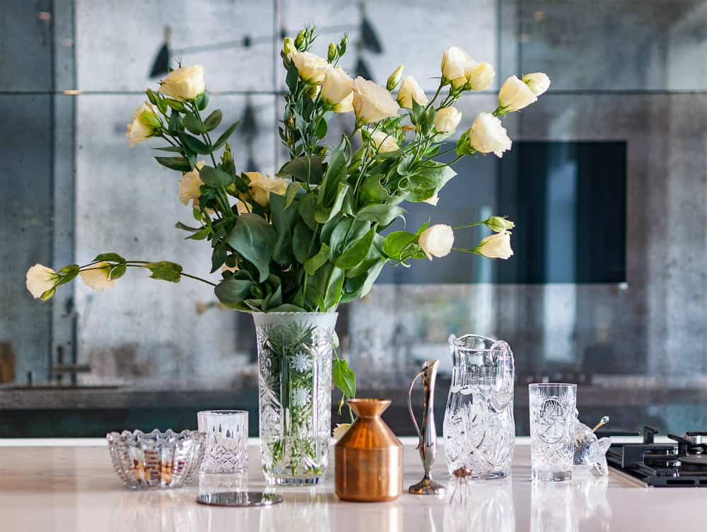 Small bunched up roses are the best tablepieces