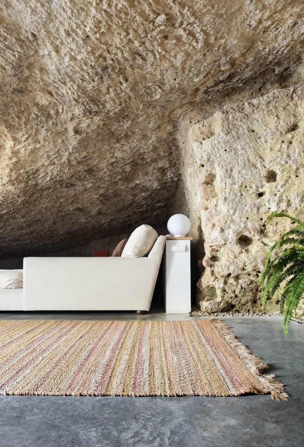 Soft rugs create a more homely atmosphere