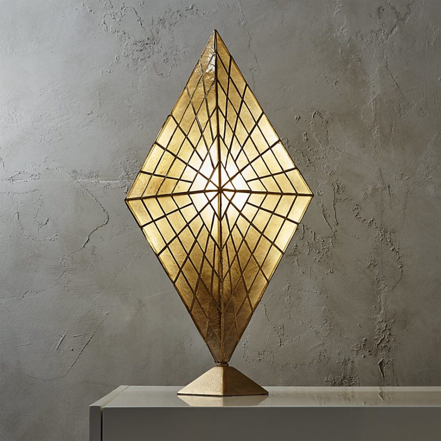 Solace capiz table lamp by CB2