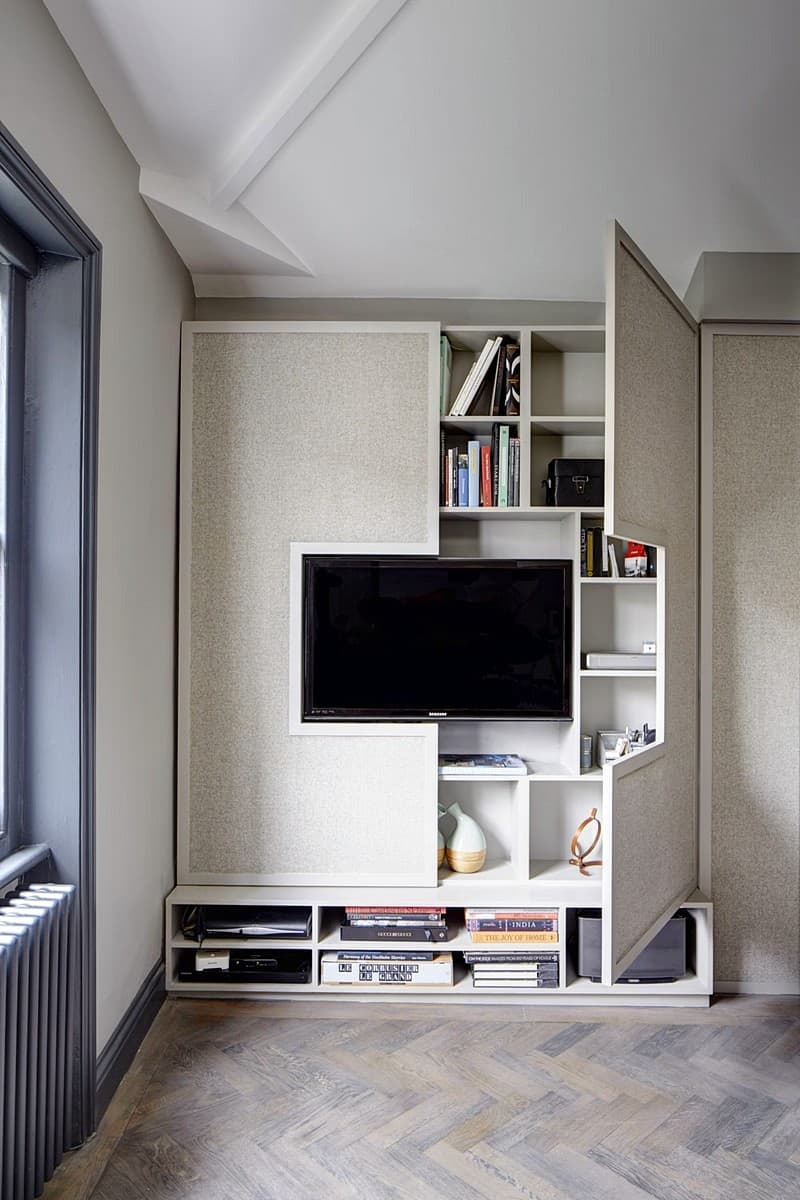 View In Gallery Storage Friendly TV Wall Elegant, Contemporary, And  Creative TV Wall Design Ideas