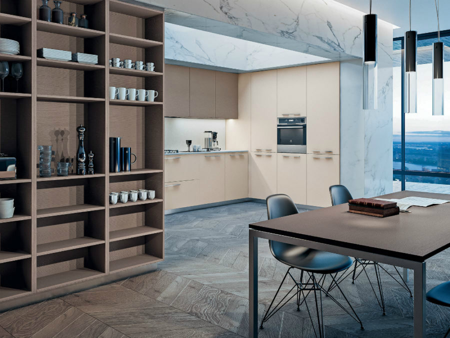 Storage unit in Space Handle kitchen by GD Arredamenti