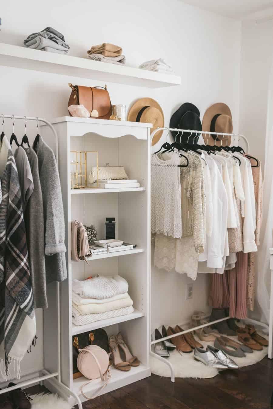 Stylish no-closet wardrobe