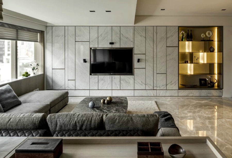 Living Room Tv Wall Design.  TV wall idea by Love Design Elegant Contemporary and Creative Wall Ideas