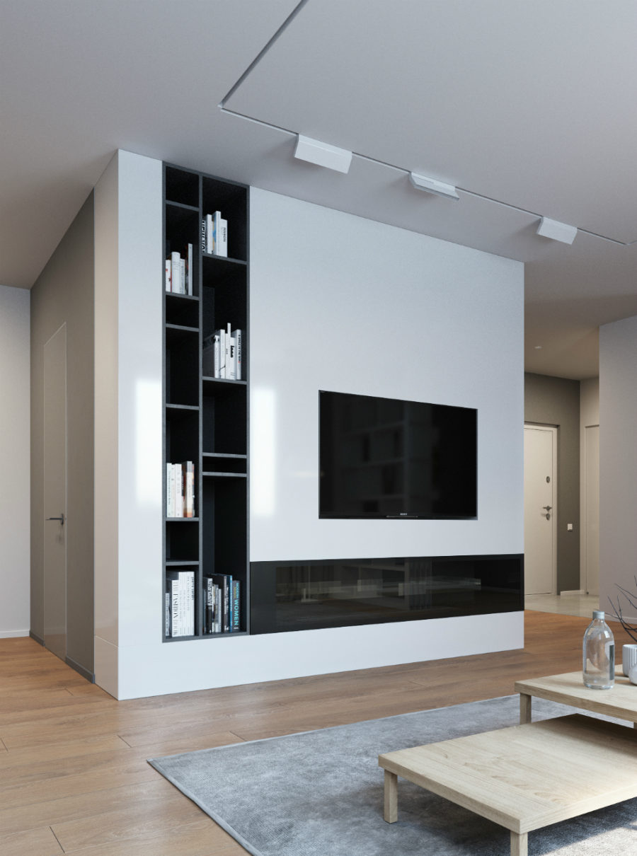living room tv wall design.  TV wall storage 900x1210 Elegant Contemporary and Creative Wall Design Ideas