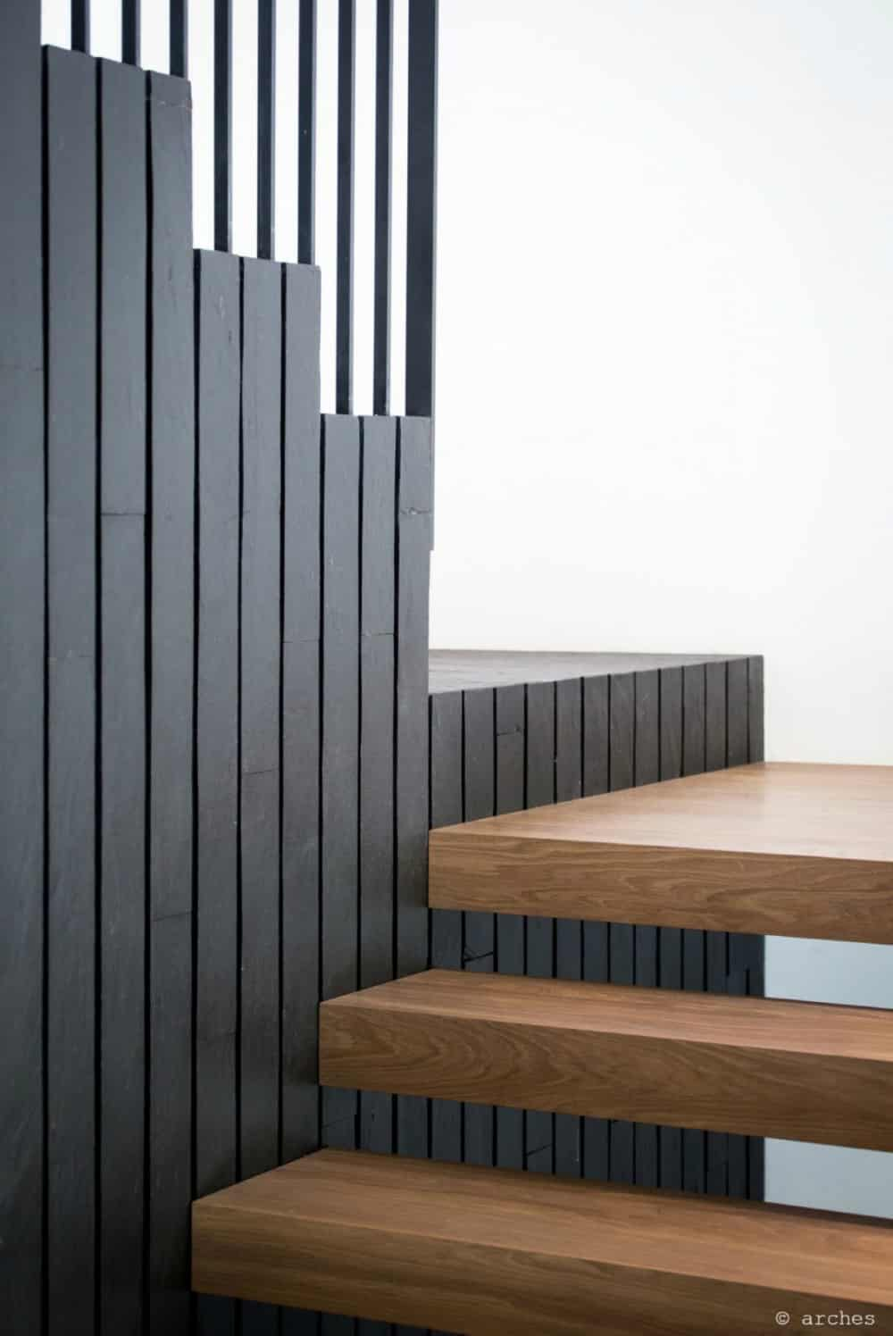Thick steps appear levitating
