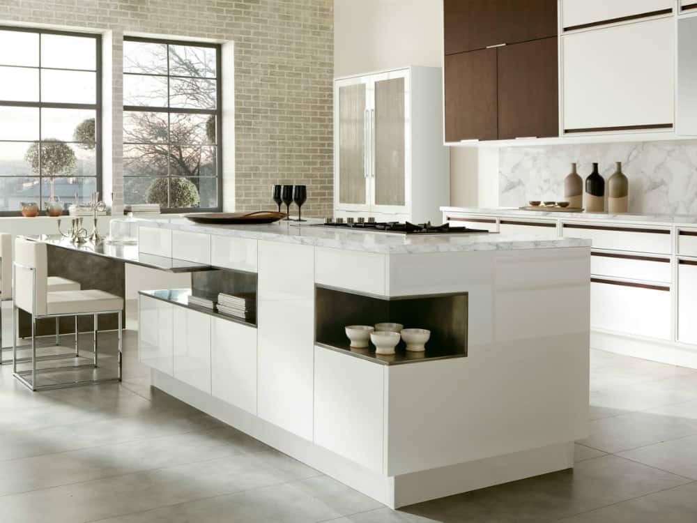 Timeline kitchen island with storage by Aster Cucine