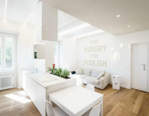 All-White Ethereal House is a Space-Efficient Apartment in Rome