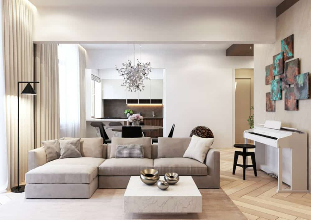 Apartment in Moscow by Shamsudin Kerimov