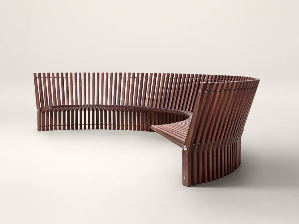 Astral round bench by Fredericia Furniture