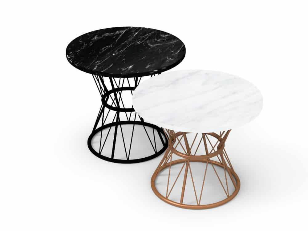 Atenea modern side table by delaOliva