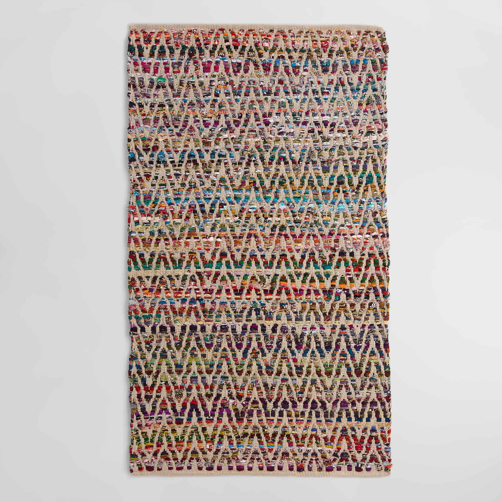 Chevron Recycled Cotton Chindi Area Rug From World Market