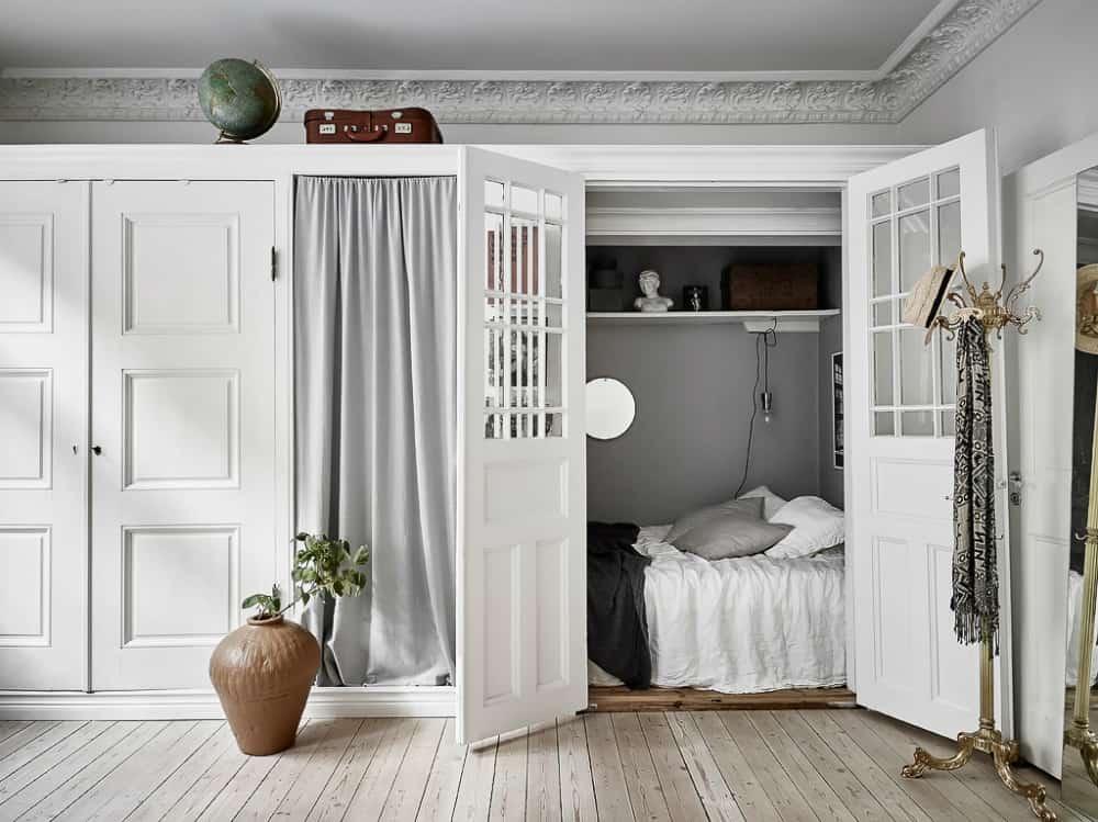 Closet-turned-bedroom