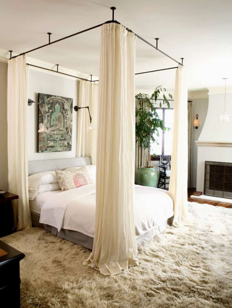 Simple  in gallery Cool bedroom with a canopy