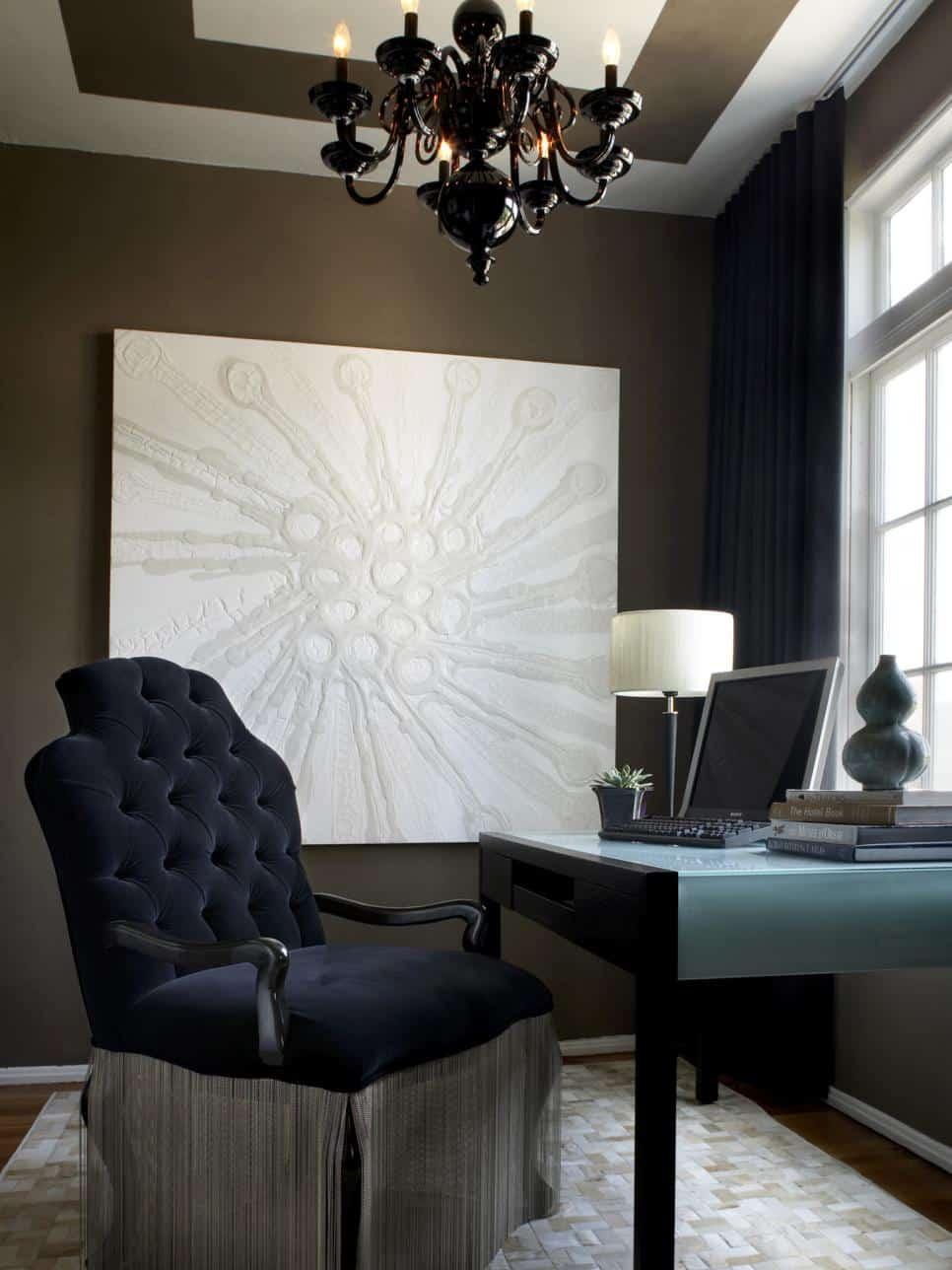Dark home office by Preston Lee