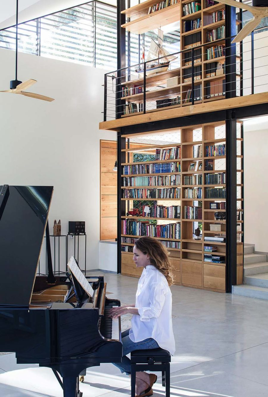 Living Room Library Design Ideas: Modern Home Library Ideas For Bookworms And Butterflies