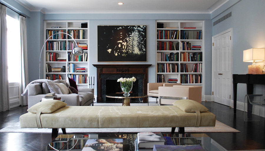 View In Gallery Fifth Avenue Apartment Library