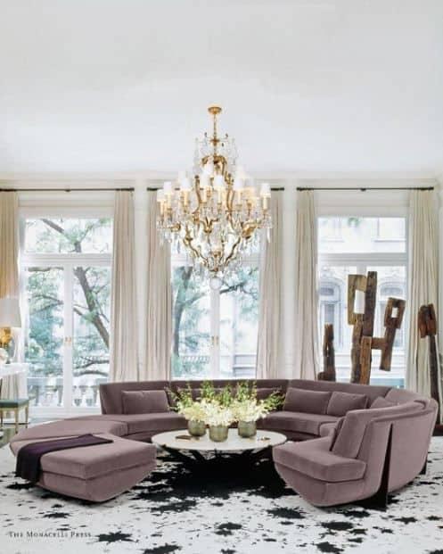 Glam Purple Round Sofa