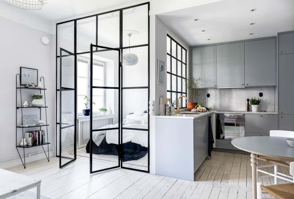 Glass-encased sleeping area