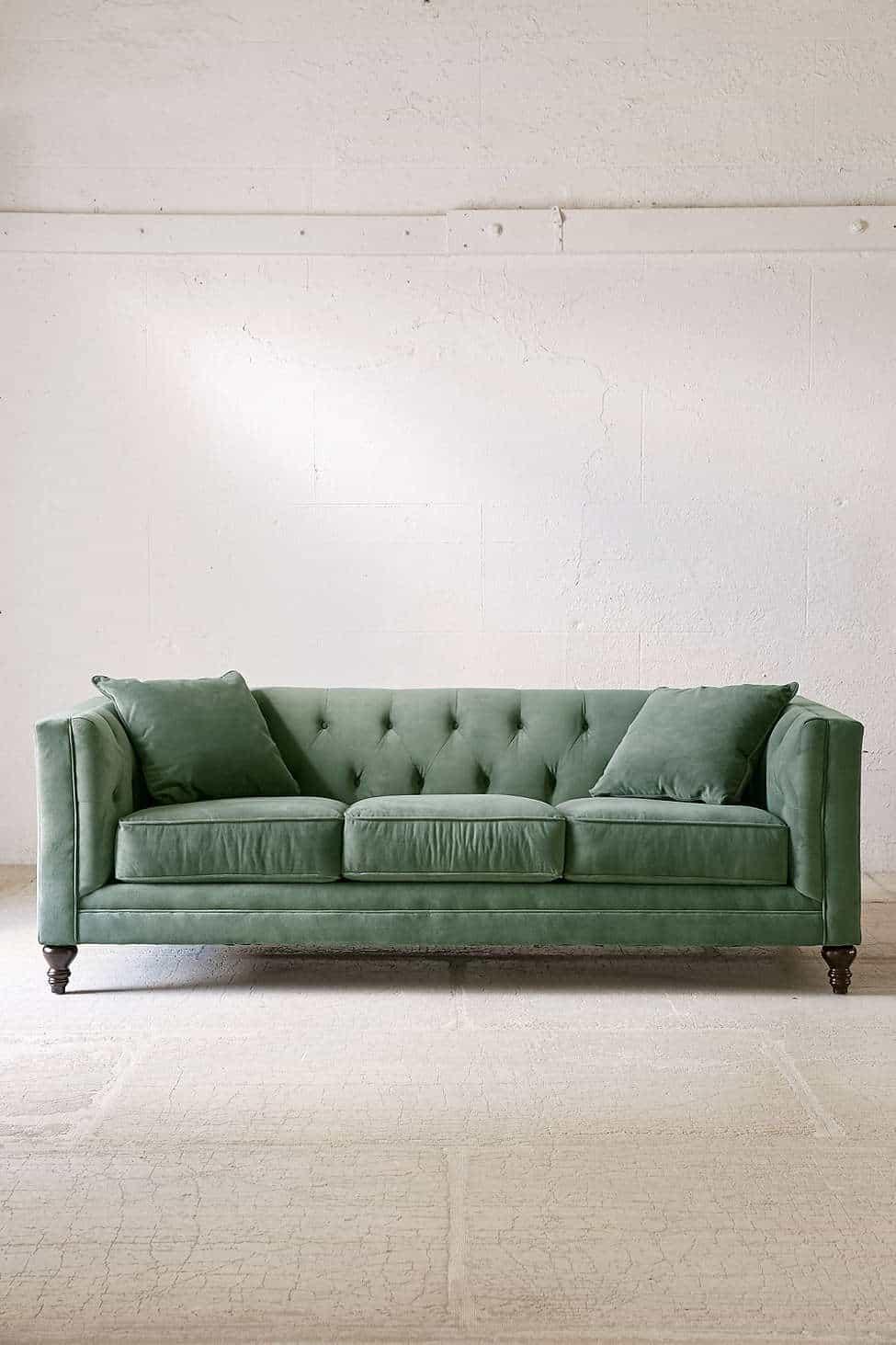 Graham Velvet sofa from Urban Outfitters