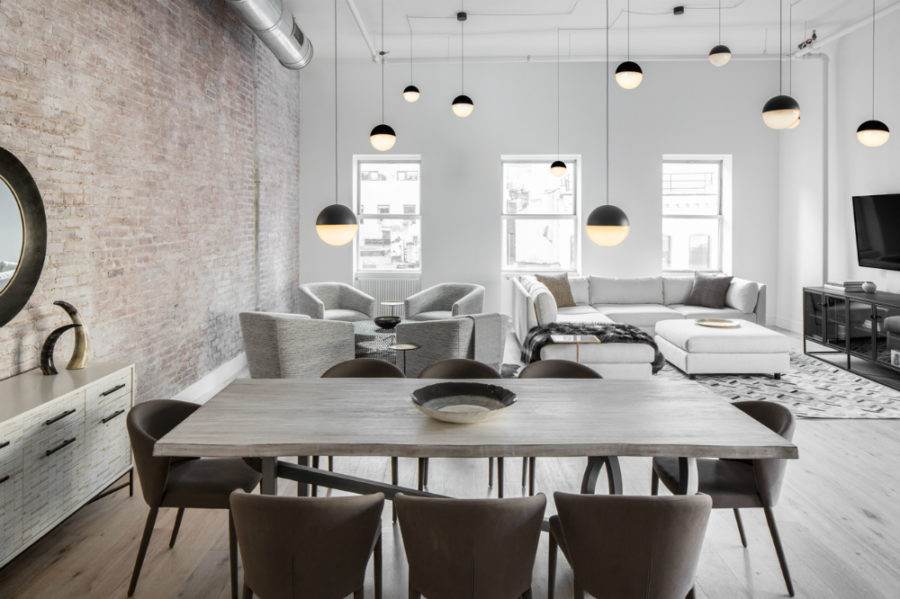 Industrial loft in TriBeCa as youve never seen berfore 900x599 Decor Aid ed: TriBeCa Loft Filled With Neutrals