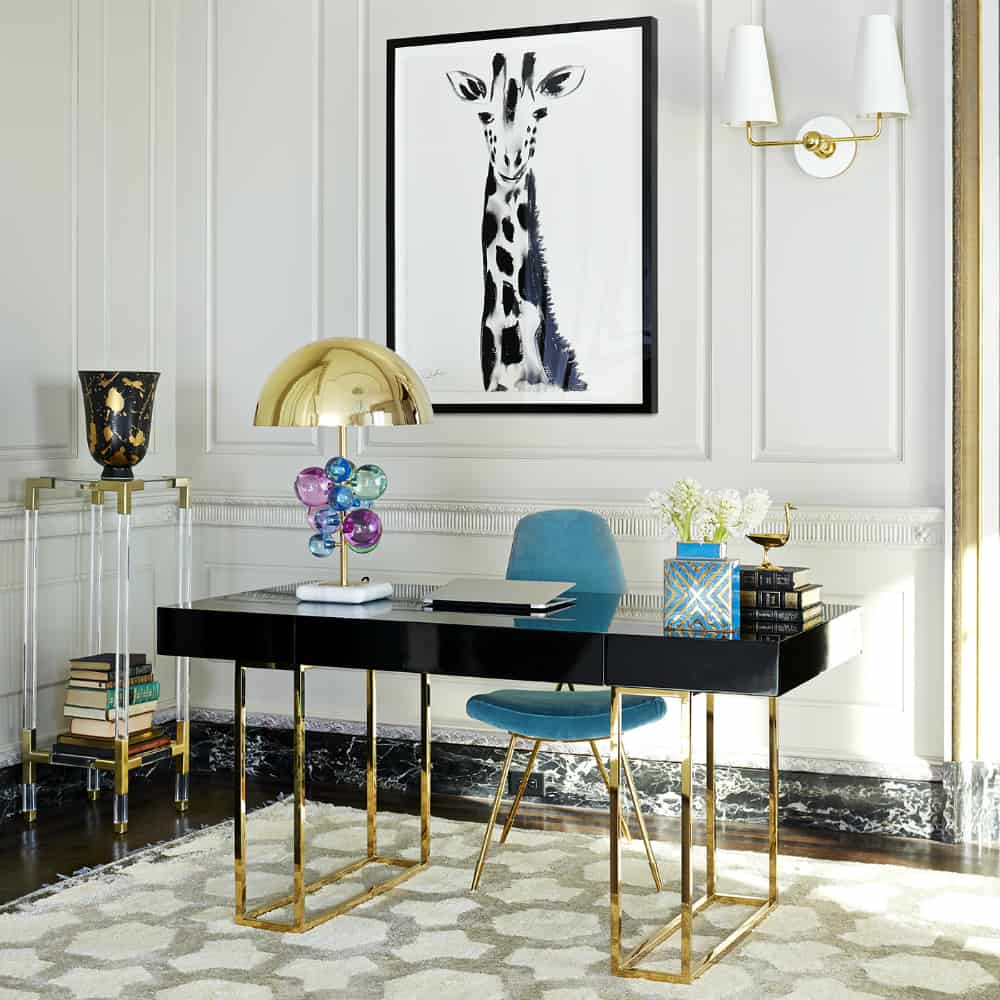 Jonathan Adler decorated home office