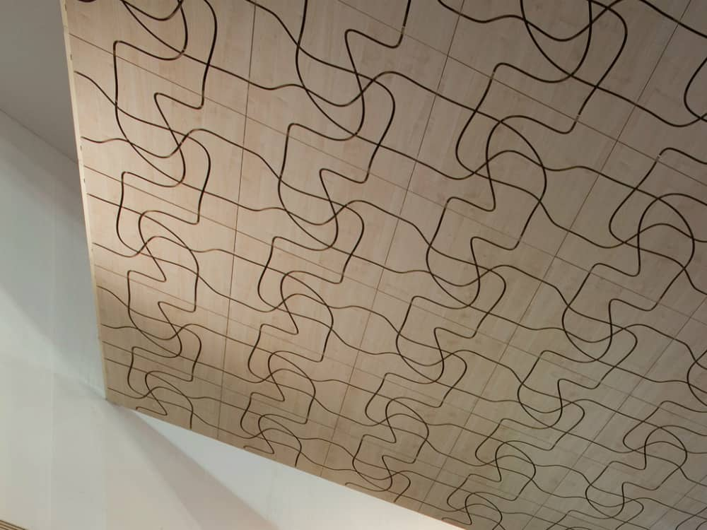 Letwood wall panels by Fantoni