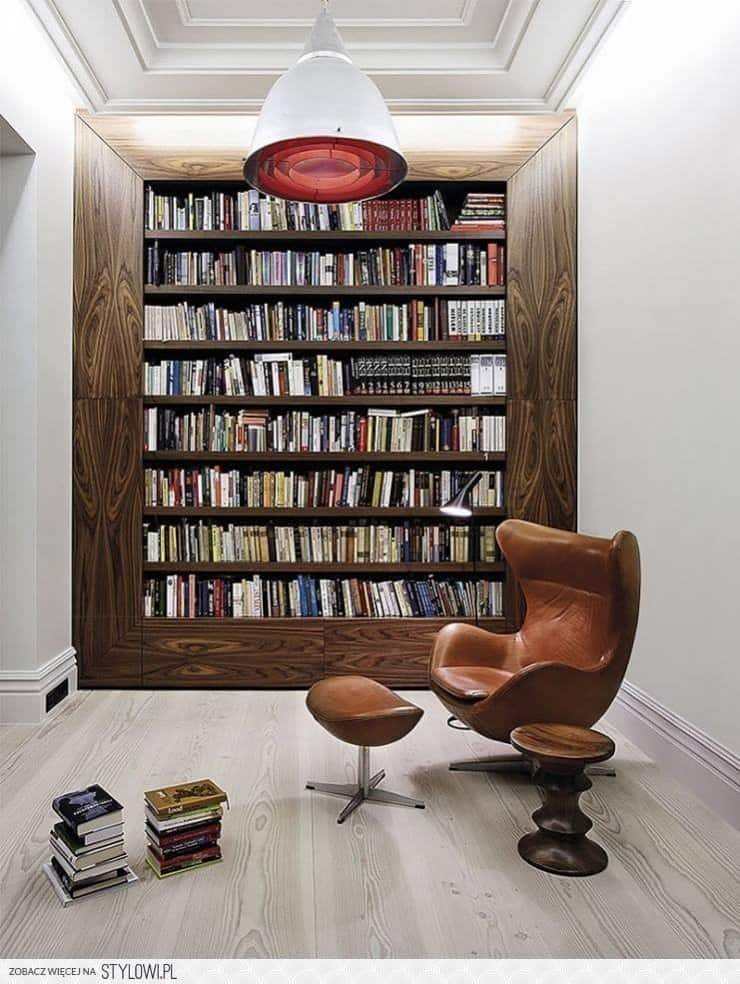 Library frame Modern Home Library Ideas for Bookworms and Butterflies