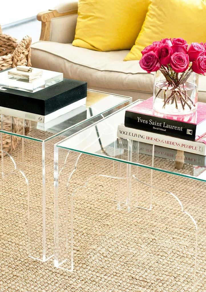 Lucite Coffee Tables in Small Rooms