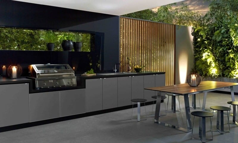 Cooking fresh is easy in modern outdoor kitchens for Modern outdoor kitchen designs