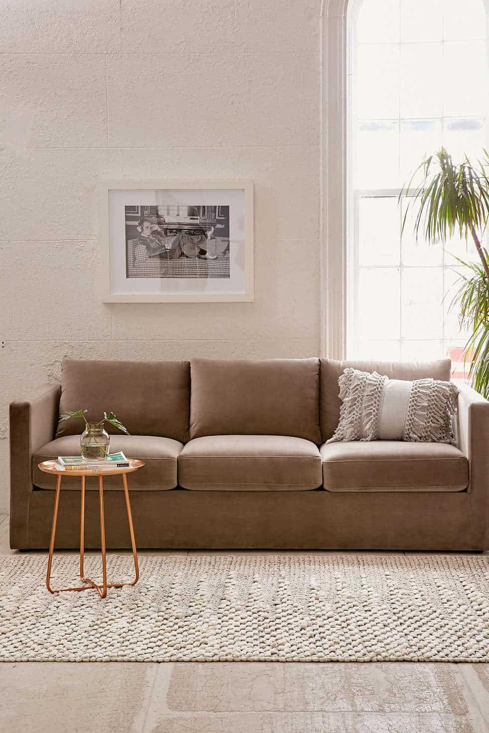 Melanie Velvet Sofa from Urban Outfitters