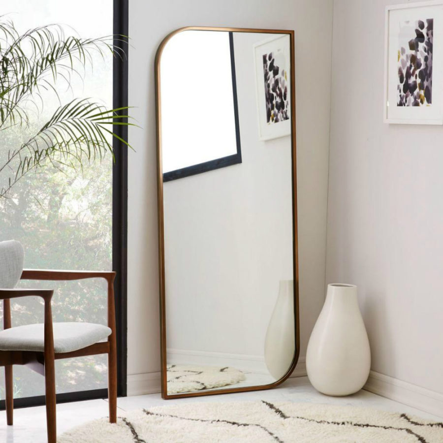 Bedroom mirror designs that reflect personality for Framed floor mirror