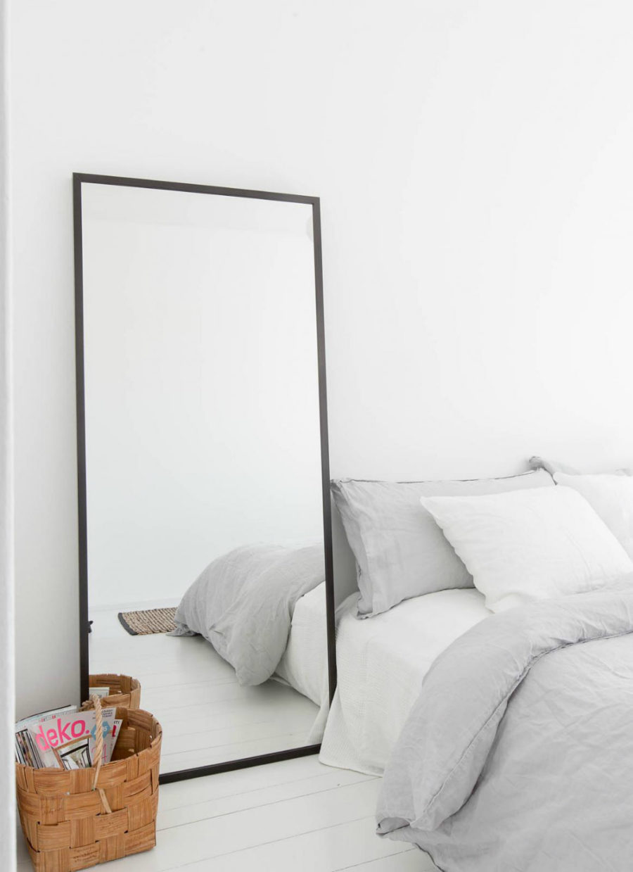 Simple Leaning Mirror Via Little Yellow Couch View In Gallery