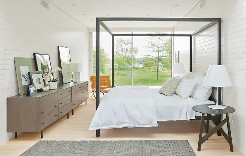 Modern Architecture Canopy Bed