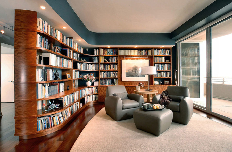 modern home library ideas for bookworms and butterfliesOffice Library Design Ideas #19