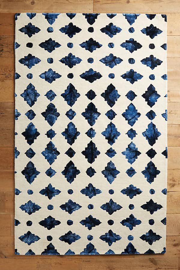 Moroccan Tile Rug from Anthropologie