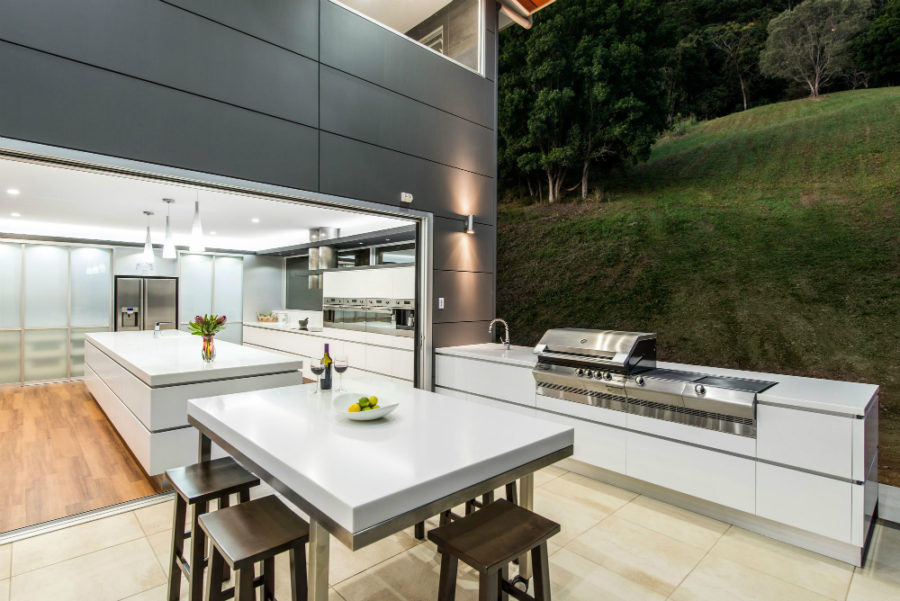 closer to home when planning a modern outdoor kitchen