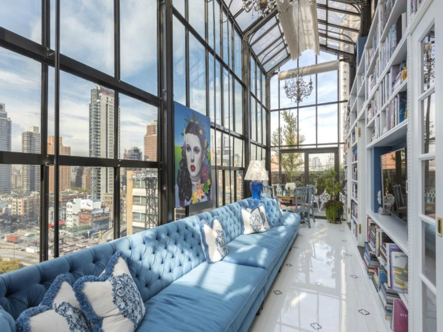 View in gallery Penthouse library via Curbed ...